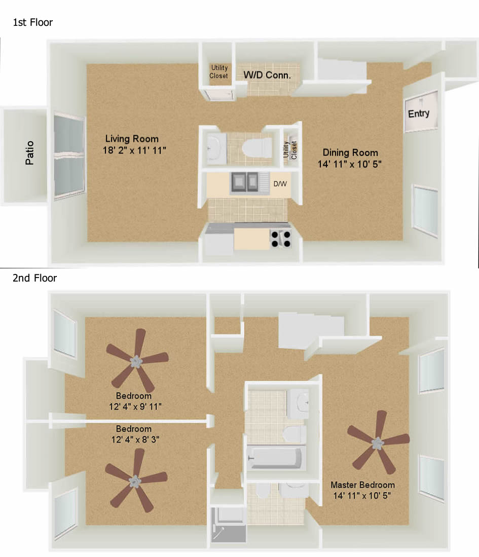 Crown villa apts savannah ga - 3 bedroom apartments in savannah ga ...